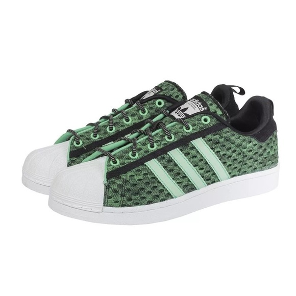 Adidas Superstar GID Glow In The Dark Green Rare